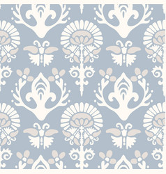 french blu shabchic damask texture vector image