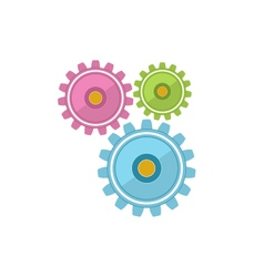 Gears Isolated on White vector image
