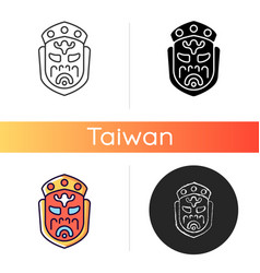 Ghost mask museum icon vector
