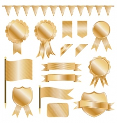 gold decorations vector image