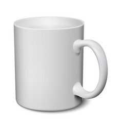 Gray mug realistic 3d mockup on a white vector