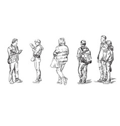 Hand drawing people 2 vector