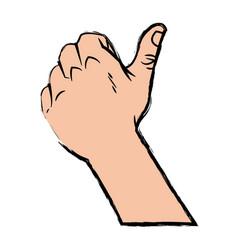 Hand man thumb up like gesture image vector
