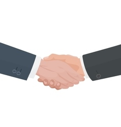 Handshake agreement Business and finance vector image