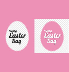 Happy easter egg design elements halftone on vector