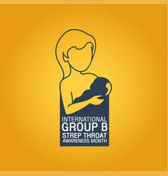 international group b strep throat awareness vector image