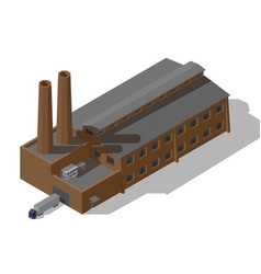 isometric industrial factory vector image