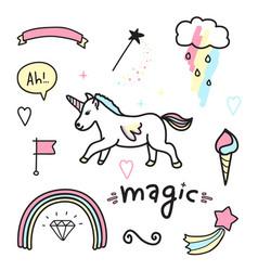 Magic colorful set vector
