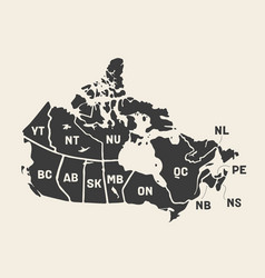 Map canada poster map provinces and vector