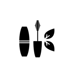 mascara brush icon black vector image