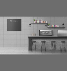 Modern cafe coffee shop realistic interior vector