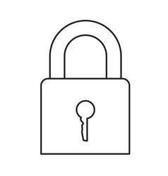 monochrome silhouette of padlock icon vector image