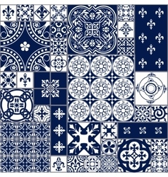 Moroccan tiles Seamless Pattern vector