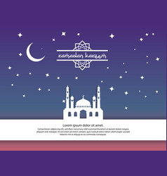 mosque moon and stars element design for ramadan vector image