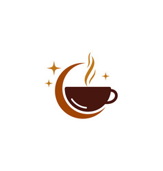 night coffee logo icon design vector image