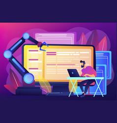 Open automation architecture concept vector