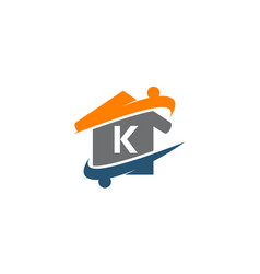 Parenting life home care initial k vector
