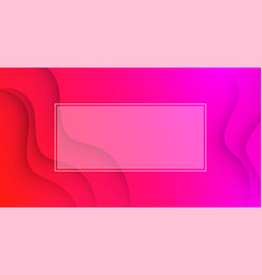 pink wavy background with white frame vector image