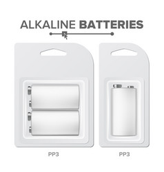 pps batteries packed alkaline battery in vector image