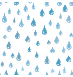 Raindrop background rainstorm seamless pattern vector