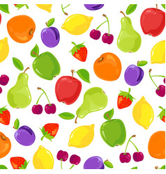 seamless pattern of colorful fruits vector image