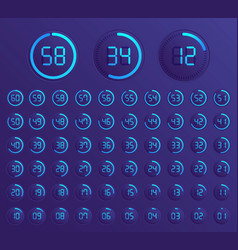 Set of timers sign icon vector