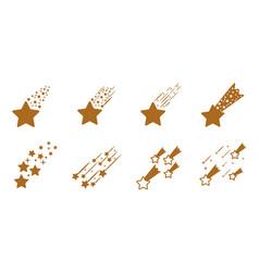 shooting comet set falling stars stock vector image
