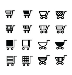 shopping cart icons design vector image vector image