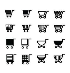 shopping cart icons design vector image