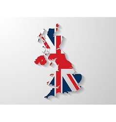 United kingdom map with shadow effect vector