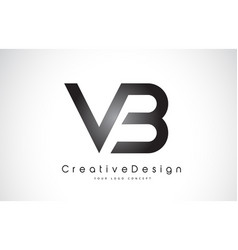 Vb v b letter logo design creative icon modern vector
