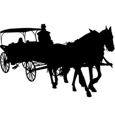 Vintage carriage silhouette vector