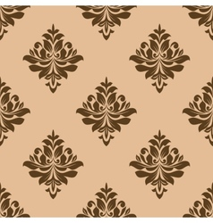 Vintage wallpaper design of floral arabesques vector image
