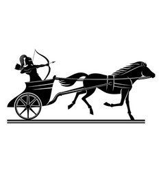 warrior on a war chariot vector image
