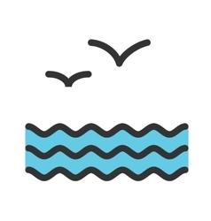 Water and Birds vector