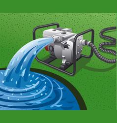 Water pump power generator vector