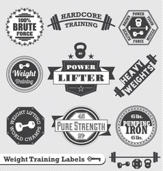 Weight Lifting Labels vector image