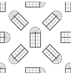 window icon seamless pattern on white background vector image