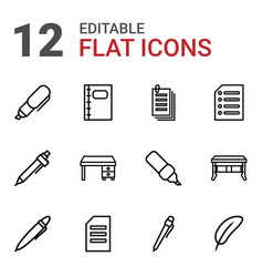 writing icons vector image