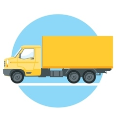 yellow truck vector image
