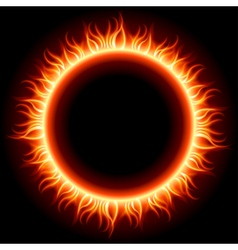 Abstract burning sun vector image vector image