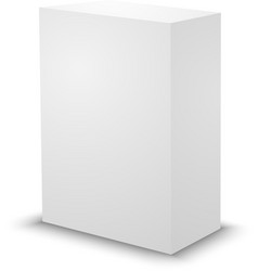 Blank white prism 3d box template vector image