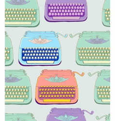 seamless typewriter vector image vector image