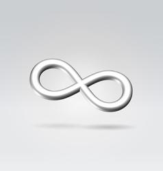 silver infinity metal symbol vector image vector image