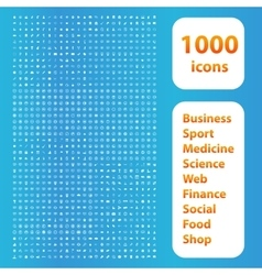 1000 icons white set vector image vector image