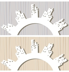 3d paper vector image vector image