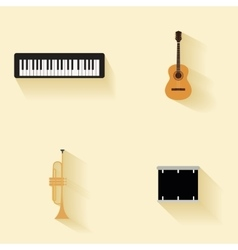 Abstract music instruments vector image vector image