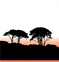 African trees vector