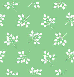 small leaves seamless pattern vector image vector image