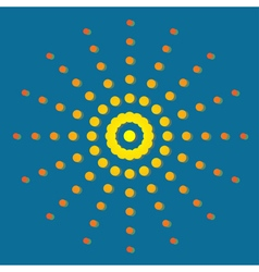 The sun in the sky vector image